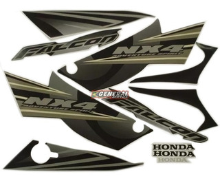 Kit Adesivo Jogo Faixas Moto Honda Falcon 2008 Preta