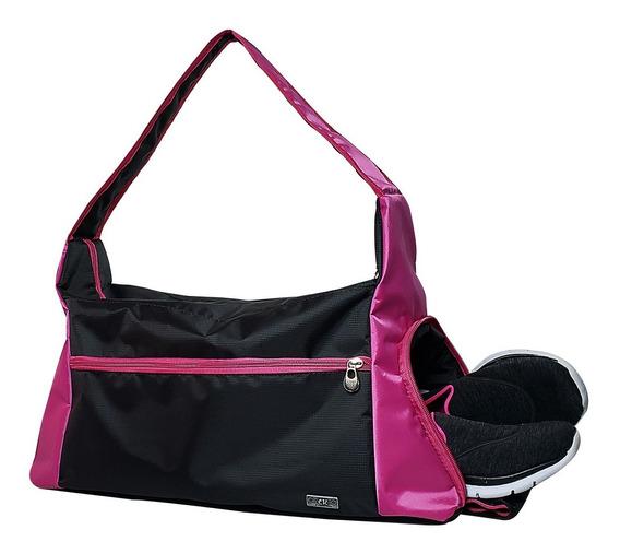 Bolsa Feminina Fitness Academia Musculação Porta Tênis
