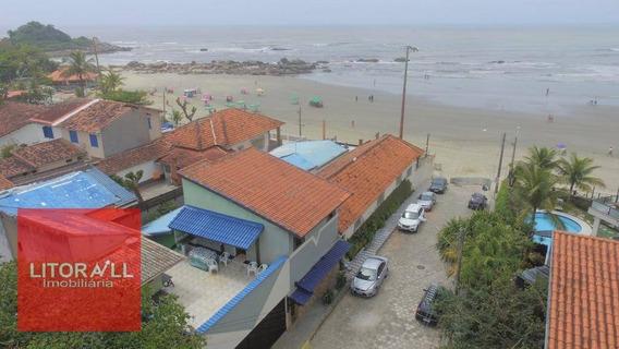 Passando Ponto Comercial, Pousada Com 14 Dormitórios Pé Na Areia, 442 M² Por R$ 260.000 - Praia Do Sonho - Itanhaém/sp - Po0004