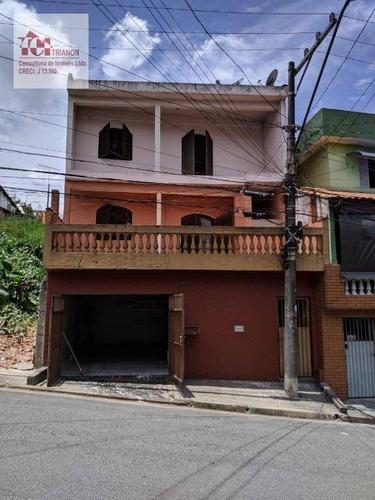 Sobrado Com 4 Dormitórios À Venda, 198 M² Por R$ 415.000 - Vila Luzita - Santo André/sp - So0563