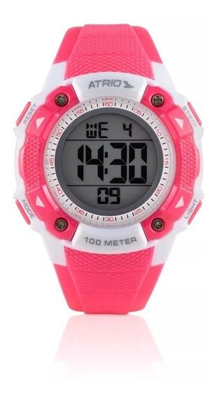Relógio Feminino Esportivo Digital Iridium Rosa Atrio Es097