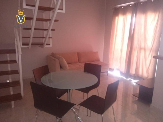 Loft Duplex Alto Padrão Com Localização Privilegiada Com 1 Dormitório Para Alugar, 62 M² Por R$ 1.800/mês - Jardim Ana Maria - Jundiaí/sp - Lf0009