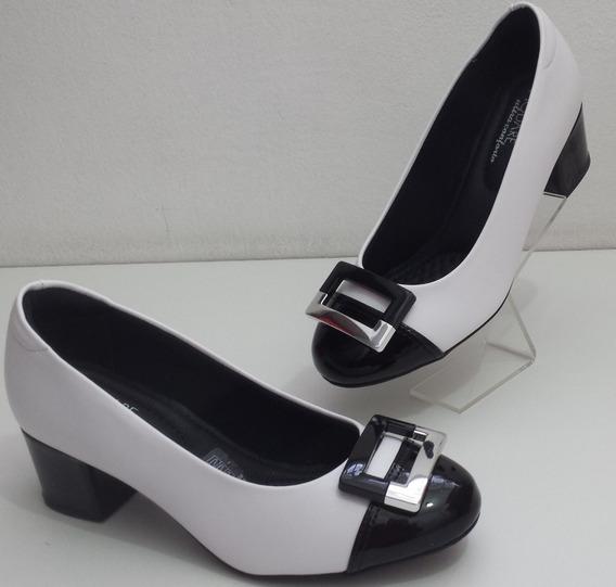 Modare Sapato 7316107 Napa Sense Verniz Pto/bco