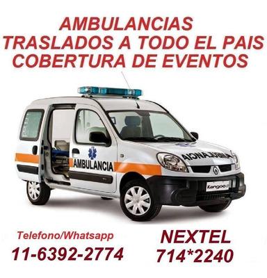 Ambulancias Traslados A Todo El Pais 24 Hs
