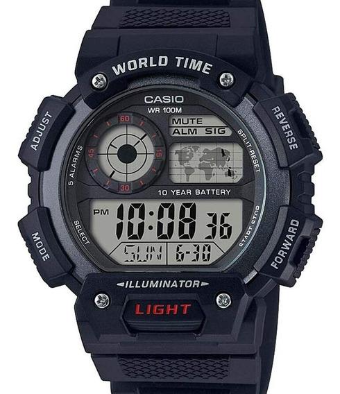 Relógio Casio Masculino Digital Standard Ae-1400wh-1avdf