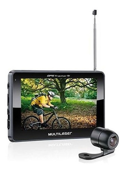 Navegador Gps Gp035 Multilaser Tracker Iii 4.3 Câmera De Ré