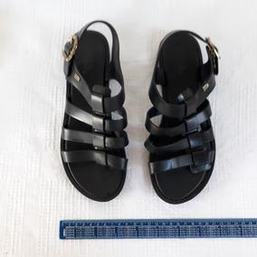 Sandália De Plástico Preto Melissa Rasteirinha N° 36 Cod2419