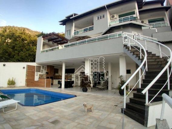 Casa Com 6 Dormitórios À Venda, 526 M² Por R$ 3.600.000,00 - Charitas - Niterói/rj - Ca1044