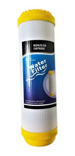 Cartucho Resina Ion10 PuLG Filtro Agua Ablanda Suaviza Durez