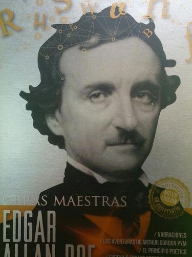 Imagen 1 de 4 de Libro De Obras Maestras De Edgar Alan Poe.