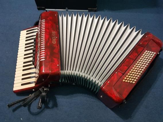 Acordeón A Piano Ciclos 72 Bajos 5 Registros Con Estuche
