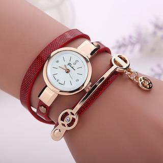 Relógio Feminino Vintage Pulseira De Couro Fg