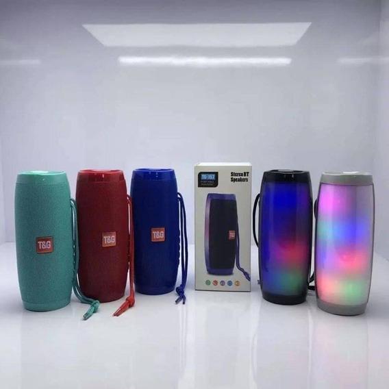 Caixa De Som Bluetooth Com Led Colorido Tg-157