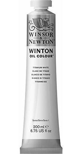 Pintura Al Oleo Winsor Y Newton Winton, 200 Ml, Blanco Tita