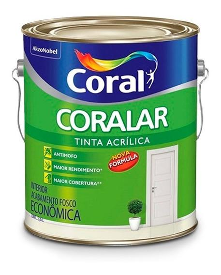 Tinta Para Parede Coral - Coralar Verde Limão Fosco 3,6 Lts