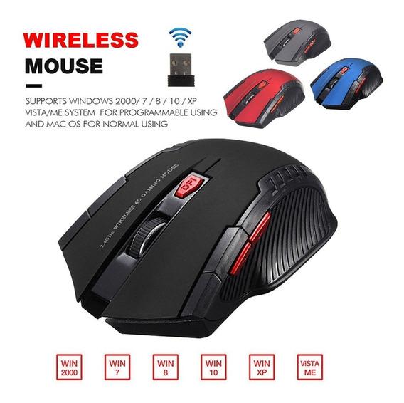 3x Mouse Game Sem Fio Óptico Wireless 2.4ghz Para Pc Notbook