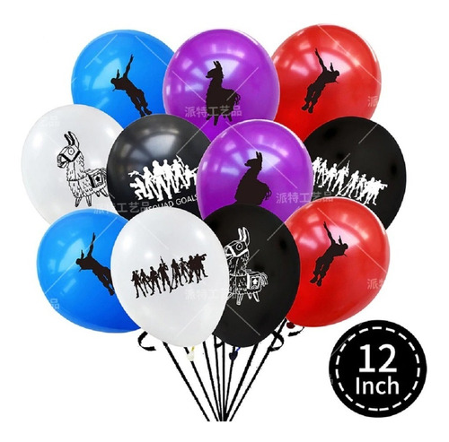 Globos Fortnite Latex R12 Docena