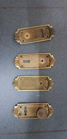 Tirafondos Y Bocallaves De Bronce Labrados Antiguos