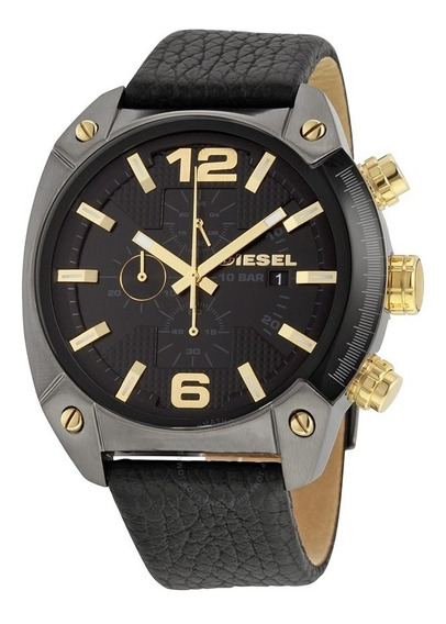 Reloj Diesel Overflow Negro Dorado Dz4375 Nuevo Original