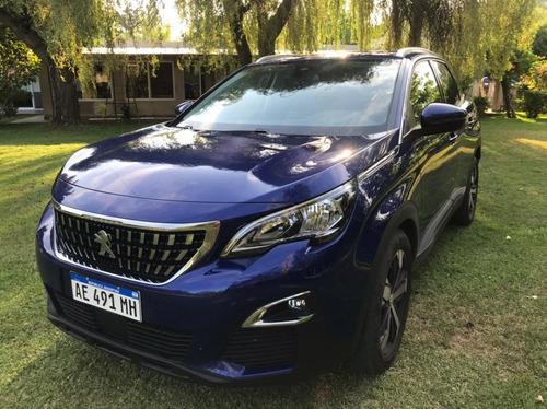 Peugeot 3008 Allure Thp Tiptronic 5 Puertas 2020 Azul