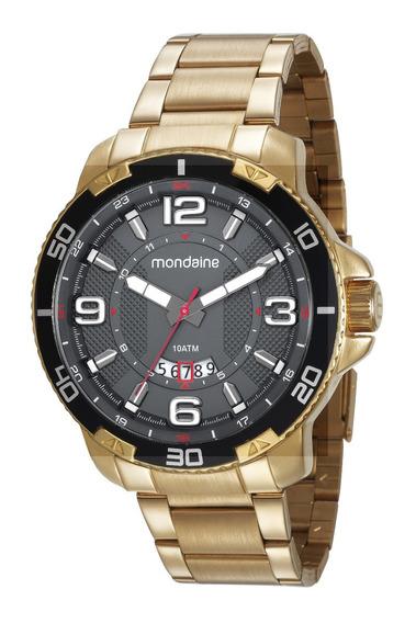 Relógio Mondaine Masculino Dourado Linha Luxo Original