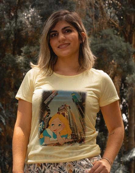 T-shirt Amarelo (camiseta/blusas) Feminina Disney