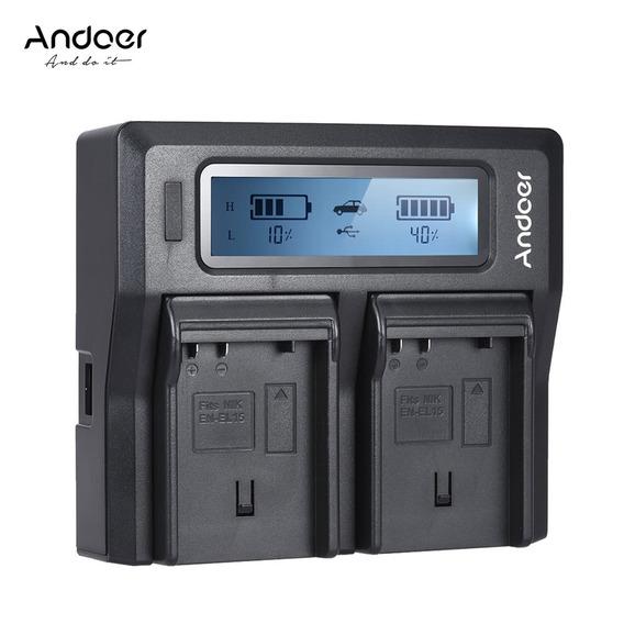Carregador Andoer Pt -el15 Dual Eu Color3