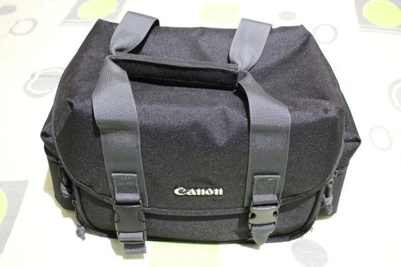 Bolsa Para Câmera Fotográfica Canon 300dg - Preta E Cinza