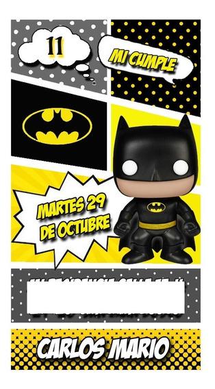 Batman Funko Tarjeta Invitación Digital Whatsapp