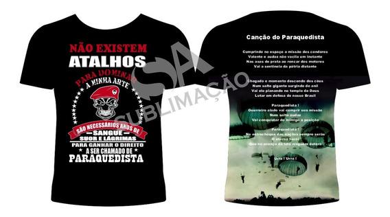 Camiseta Exercito Brasileiro Paraquedismo Pqd