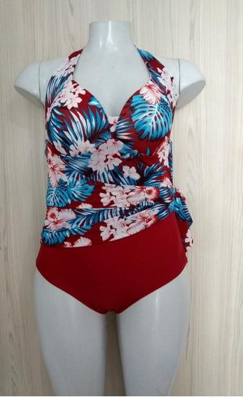 Maiô Vestido Embutido Com Bojo Moda Praia Verão Frete Grátis