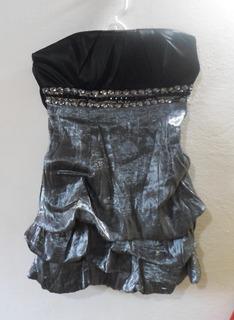 Vestido Negro De Dama Talla M 3v