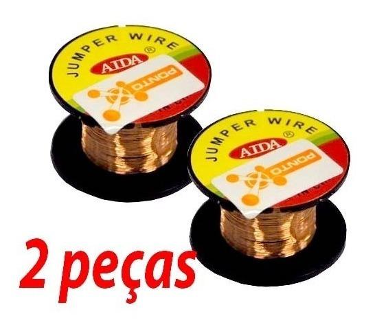 Frete R$9 Kit 2 Rolos Fio Cobre, Reparo Trilha Placa Celular