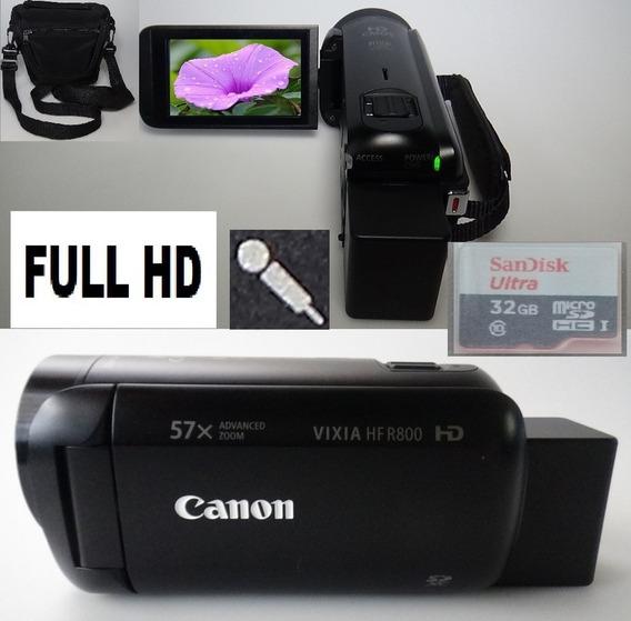 Filmadora Canon Vixia Hf-r800 Full Hd Entrada De Microfone