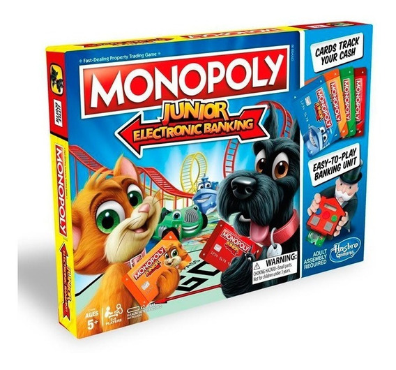 Juego De Mesa Monopoly Junior Banco Electrónico E1842