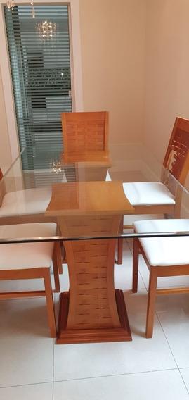 Sofá + Mesa Com 6 Cadeiras + Buffet Somente Rj