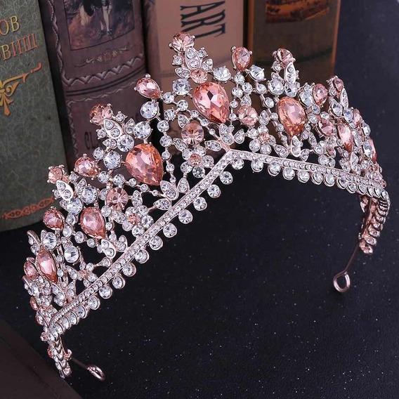 Corona Coral Tiara Princesa Xv Años 15 Años Quinceaños Tocad