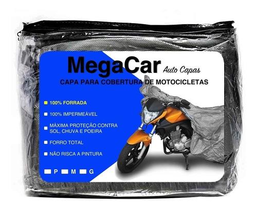 Imagem 1 de 6 de Capa Pra Cobrir Moto Impermeável Proteção Contra Sol Chuva