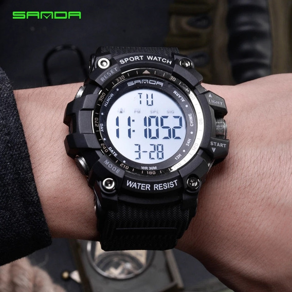 Relógio Masculino Esportivo Militar Sanda