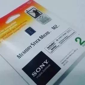 Memory Stick Sony Micro M2 2gb Ms-a2g/2nqt Envio Já