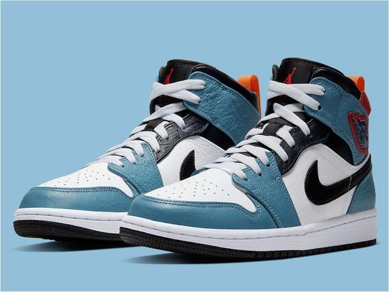 Tenis Nike Jordan 1 Mid Fearless Facetasm Nuevos Originales