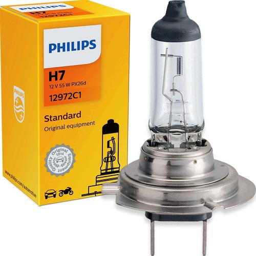 Imagem 1 de 6 de Lâmpada Philips Standard H7 55w 12v 12972c1 Farol Baixo Alto