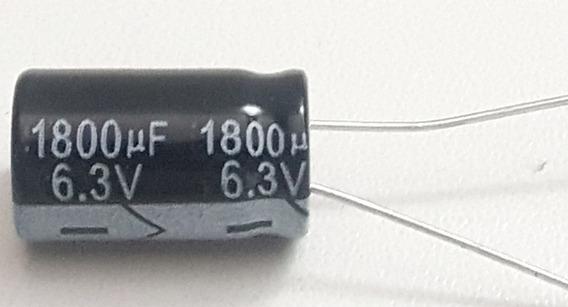 Capacitor Eletrolítico 1800uf X 6,3v 105° 10 Peças