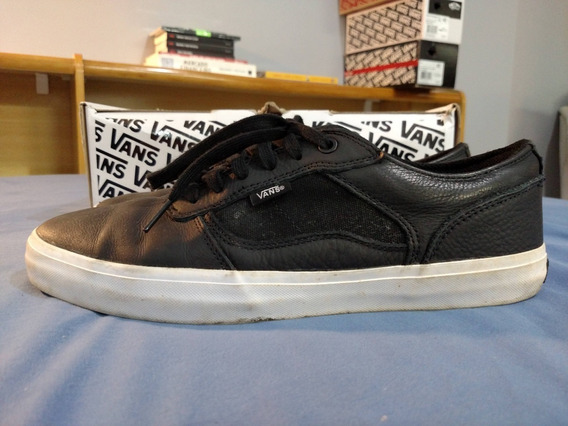 Tênis Vans Bedford Low (stealth) Black/white - Couro - 42