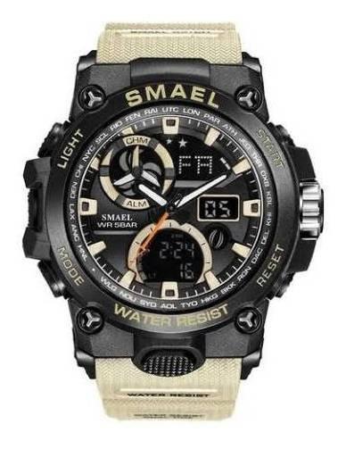 Relógio Masculino Militar G-shock Smael 1545 Prova Agua Gray