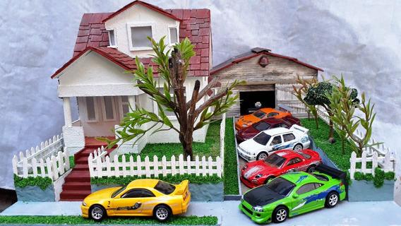 Maqueta / Diorama Casa Toretto Para Autos Escala 1/64