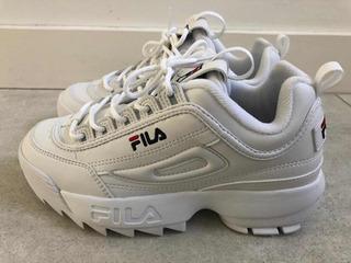 Zapatillas Fila Nuevas Traidas De Eeuu Blancas Talle 5t 23,5