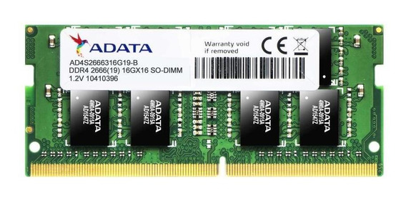 Memoria Adata Sodimm Ddr4 16 Gb Pc 2666 Mhz