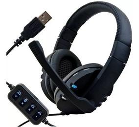 Headset Ps4 Ps3 Microfone Fone Gamer Usb Pc Muda De Cor Leds