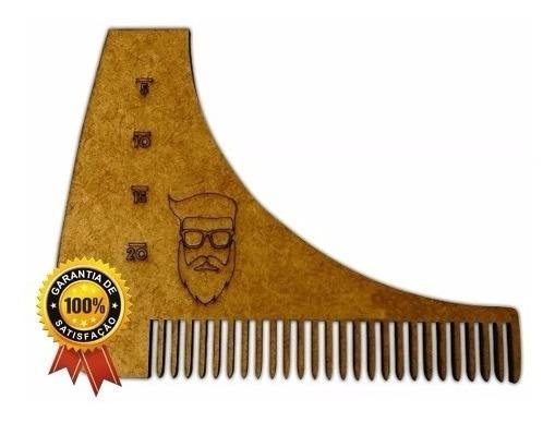 5 Alinhadores Pente Modelador Para Barba De Madeira Barbeiro